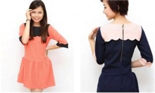 Váy phối màu cổ peterpan duyên dáng cho mùa thu đông sành điệu - 2 - Thời Trang và Phụ Kiện - Thời Trang và Phụ Kiện