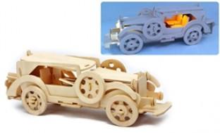 Phát triển khả năng nhận biết của bé với ô tô lắp ráp gỗ có đèn