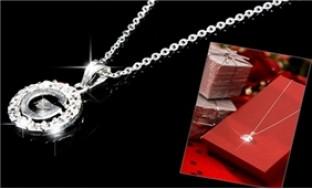 Dây chuyền bạc ta đính đá pha lê thời trang và sang trọng - 1 - Thời Trang và Phụ Kiện