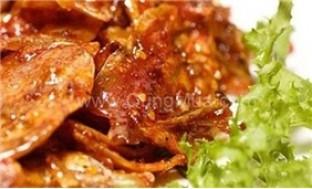 Đặc sản Bình Định: mực ngào ớt tỏi