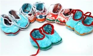 Combo 05 giầy vải có dây buộc cho bé từ 03 - 06 tháng - 2 - Khác