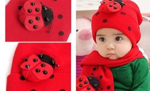 Bộ khăn mũ len tai con bọ ngộ nghĩnh cho bé từ 03 tháng đến 03 tuổi - 3 - Thời Trang và Phụ Kiện