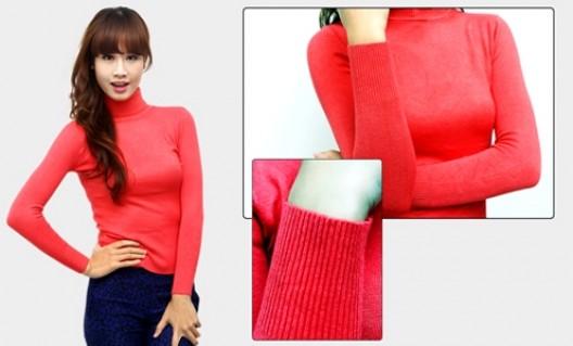 Áo len cao cổ giữ ấm cơ thể bạn gái mỗi khi đông về - 3 - Thời Trang và Phụ Kiện