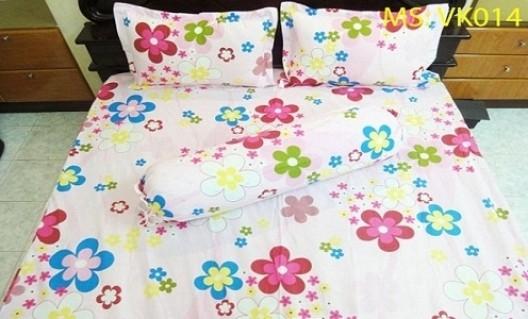 Bộ drap vải Kate gồm 01 ga trải giường + 02 vỏ gối + 01 vỏ gối ôm