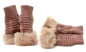Găng tay len hở ngón kiểu dáng Hàn Quốc