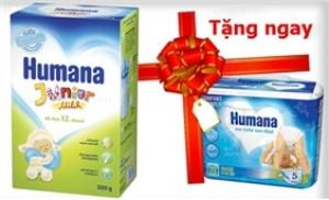 Sữa bột Humana Junior 500g. TẶNG Tã Humana 5M theo size bạn lựa chọn