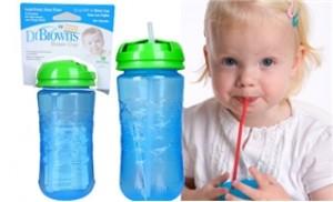 Ca tập cho bé uống nước, sữa bằng ống hút 355ml, Dr.Brown's