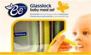 Bộ cho bé ăn 3 món bằng thủy tinh, thương hiệu Glasslock Hàn Quốc