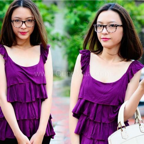 Áo thun nữ nhiều tầng Yan Fashion
