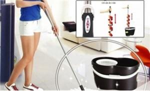Bộ lau nhà thông minh Omega Mop 360 độ không cần đạp chân vẫn vắt khô