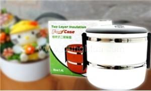 Nóng hổi cho bữa ăn với hộp cơm giữ nhiệt 2 tầng tiện lợi
