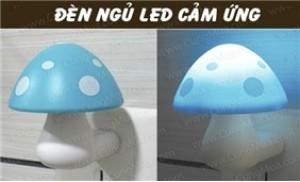 Combo 2 đèn ngủ led cảm ứng hình nấm tự động phát sáng khi trời tối - 1 - Gia Dụng