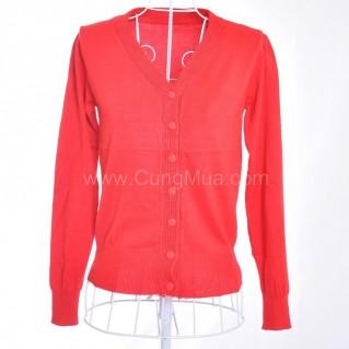 Áo khoác len dệt kim colour block