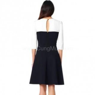 Đầm lyly đen trắng