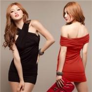 Đầm ôm body chéo vai kiểu Rayon
