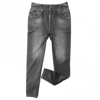 Quần legging giả jean mỏng