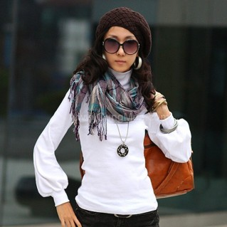 Áo thun nữ cổ lọ tay Alibaba