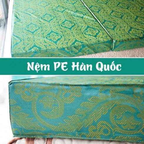 Nệm PE Hàn Quốc loại dày 10cm gấp 3