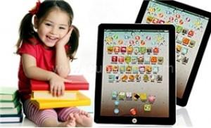 Ipad điện tử, màu sắc tươi sáng, bắt mắt giúp trẻ học tiếng anh