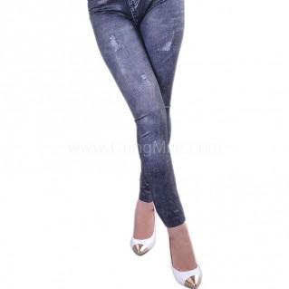 Quần legging giả jean wax cá tính