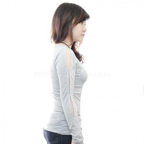 Áo thun nữ ôm body xẻ tay