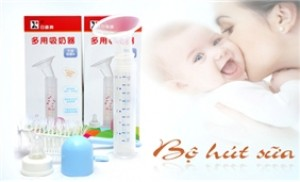 Bộ hút sữa cho bà mẹ cho con bú - tiện dụng, an toàn cho bé