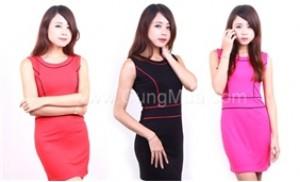 Đầm Thun Chic He thời trang thiết kế đường viền cực tinh tế, ôm body