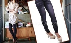 Quần legging giả Jeans: Thiết kế đẹp,không khác quần jean thật - 4 - Thời Trang và Phụ Kiện