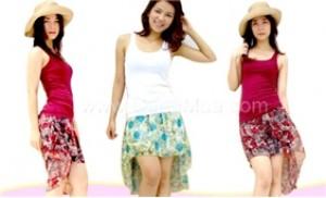 Dáng đẹp, chân thon với chân váy Mullet vải avatar Hàn Quốc mềm mại