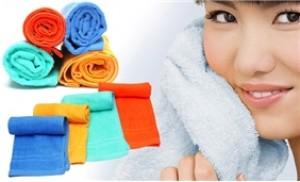 Combo 04 khăn mặt (50x28 cm) chất liệu cotton mềm mịn, khô thoáng