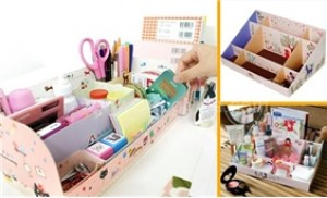 Hộp giấy xếp để bàn giúp sắp xếp gọn gàng các vật dụng - 3 - Gia Dụng - Gia Dụng