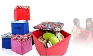 Ghế hộp đa năng mặt GIẢ DA giúp vừa để ngồi, vừa làm hộp đựng đồ