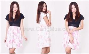 Đầm chữ V chân váy hoa duyên dáng, khoe khéo vòng 1 của bạn - 1 - Thời Trang và Phụ Kiện