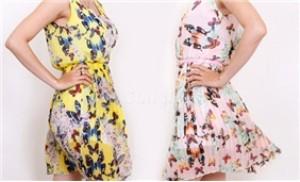Đầm voan lụa sát nách dập ly chân váy hoạ tiết hoa bướm thời trang - 1 - Thời Trang và Phụ Kiện - Thời Trang và Phụ Kiện