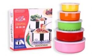 Combo thố inox 5 màu sắc nổi bật, tiện dụng bảo quản thực phẩm