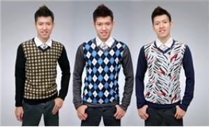 Áo thun len cổ tim thời trang làm nên phong cách cho các chàng trai.