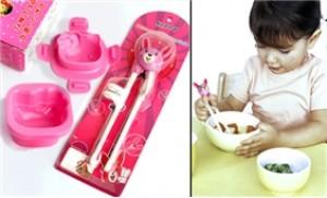 Combo đũa tập ăn và khuôn cơm Hello Kitty - bé hào hứng ăn ngon - 1 - Gia Dụng