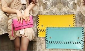 Thời trang với Ví chất liệu simili bóng cao cấp, sắc màu rực rỡ