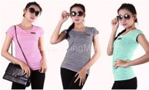 Áo thun nữ ngắn tay kẻ ngang cho bạn gái năng động, tự tin đón thu - 2 - Thời Trang và Phụ Kiện - Thời Trang và Phụ Kiện