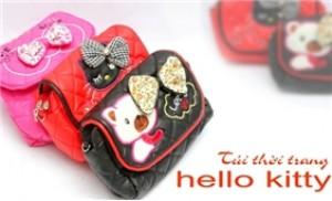 Túi xách da Hello Kitty dây đeo - Thật dễ thương cho bạn