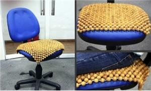 01 chiếc đệm ghế hạt gỗ giúp giảm căng thẳng, mệt mỏi