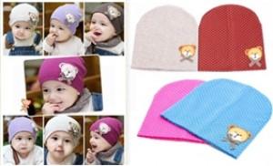 Combo 02 mũ chấm bi, chất liệu cotton ấm áp cho bé yêu của bạn