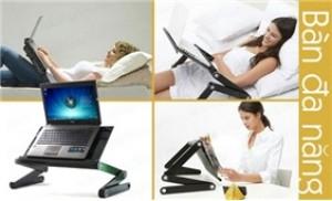 Bàn xoay laptop đa năng chất liệu nhôm tản nhiệt gọn nhẹ, tiện dụng