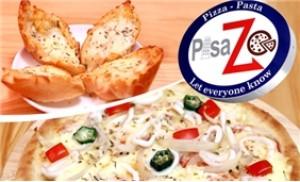 Set ăn piza + 02 bánh mỳ bơ + 02 đồ uống tại Nhà hàng PisaZo