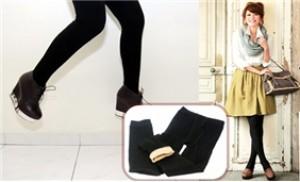 Quần Legging 02 lớp màu đen, lớp ngoài không xù, lớp trong nỉ mềm ấm - 1 - Thời Trang và Phụ Kiện