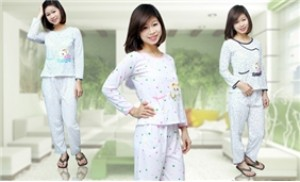 Bộ đồ ngủ cotton dài tay, họa tiết chấm bi cho các bạn gái - 3 - Thời Trang và Phụ Kiện - Thời Trang và Phụ Kiện