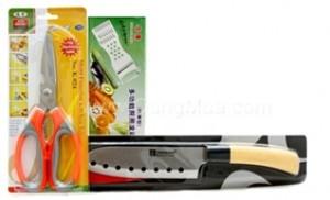 Việc bếp núc thật dễ dàng, tiện lợi với Combo dao, kéo, bào đa năng