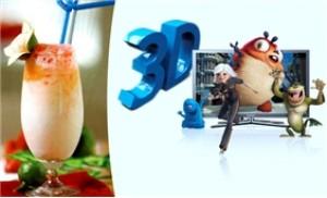 Combo 02 suất xem phim 3D, 02 nước uống, 02 bỏng ngô tại Newsun cafe
