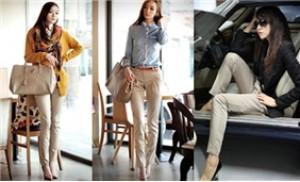 Quần Kaki công sở nữ, chất liệu bền đẹp, kiểu dáng thời trang - 1 - Thời Trang và Phụ Kiện - Thời Trang và Phụ Kiện