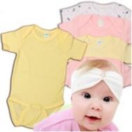 Bộ body cộc tay cotton cho bé (05 bộ)